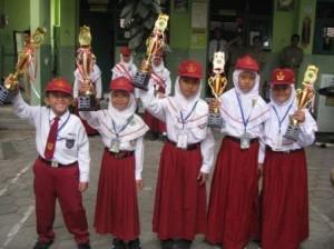 SD Muhammadiyah Bodon Panen Piala di Lomba  MTQ Tingkat Kecamatan Banguntapan