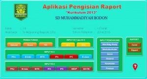 SD Muhammadiyah Bodon membuat Aplikasi untuk memudahkan pengisian Rapot K-13